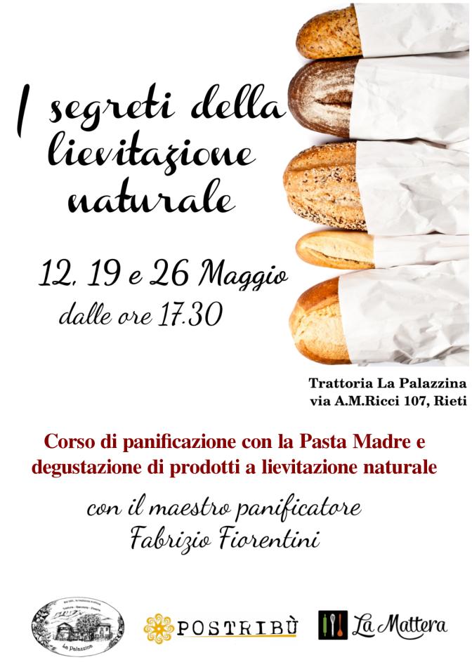 """A Rieti il 12, 19 e 26 maggio un corso per apprendere """"I segreti della panificazione"""""""