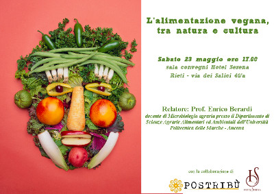 Alimentazione vegana, tra natura e cultura: se ne parla a Rieti il 23 maggio