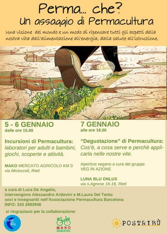 Un assaggio di Permacultura: 5, 6 e 7 gennaio a Rieti