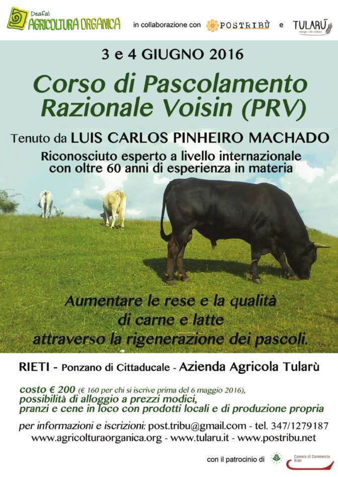 Allevamenti sostenibili, a Rieti unica tappa italiana dell'esperto internazionale Pinheiro