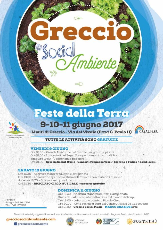 Feste della Terra, a Greccio spettacoli e attività dal 9 all'11 giugno