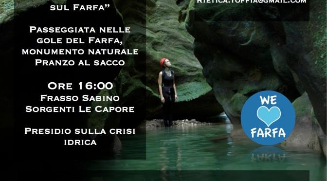 Il Farfa è a secco. Domenica 30 luglio diciamo Stop al disastro ambientale.