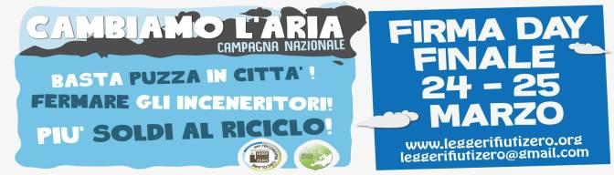 Campagna Cambiamo l'Aria: vieni a firmare!