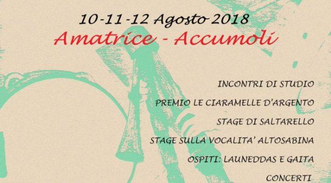 Festival delle Ciaramelle tra Amatrice e Accumoli